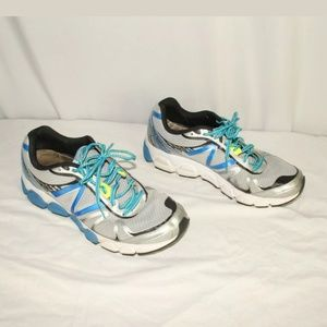 New balance size 10.5 gray and blue running shoes